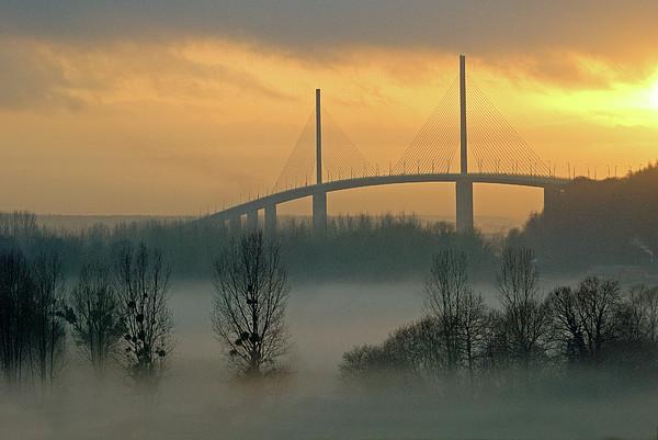 Brotonne Bridge Print by Photographie Hg Meunier