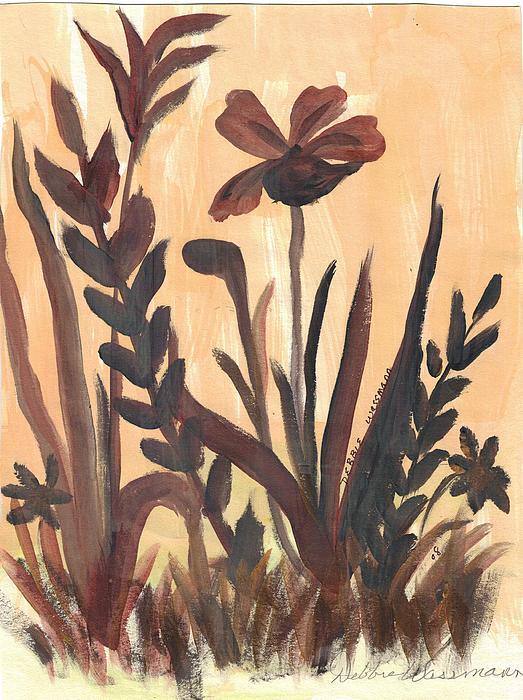 Brown Ferns Print by Debbie Wassmann