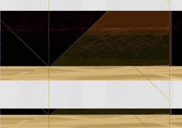 Brown Field Print by Naxart Studio