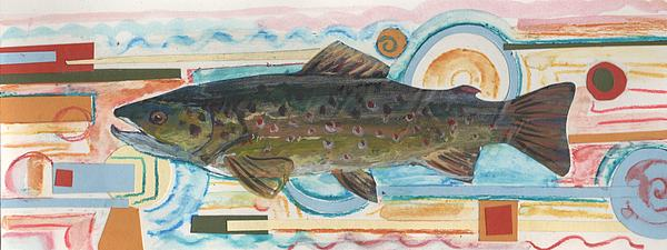 Brown Trout 1 Print by Michelle Grove