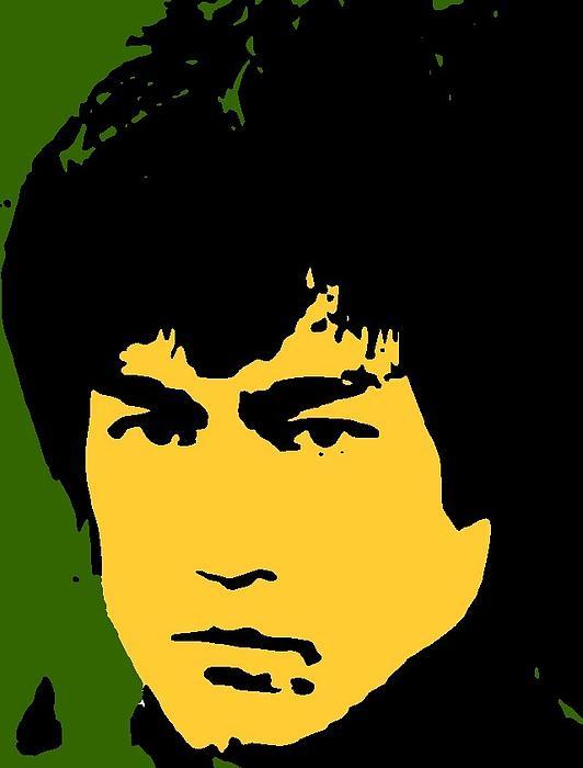 Bruce Lee Pop Print by Paul Van Scott