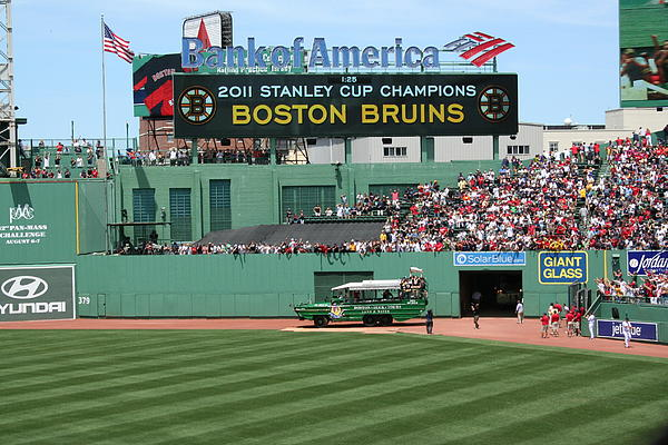 Bruins At Fenway Print by Stephen Melcher