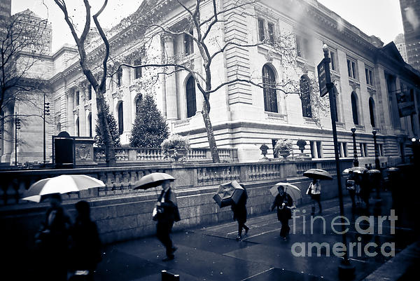 Bryant Park Umbrella Runway Print by Chandra  Dee