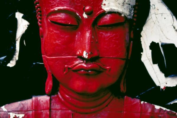 Buddha Red Print by Skip Hunt