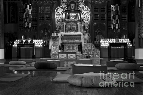Buddhist Temple Woodstock Print by Design Remix