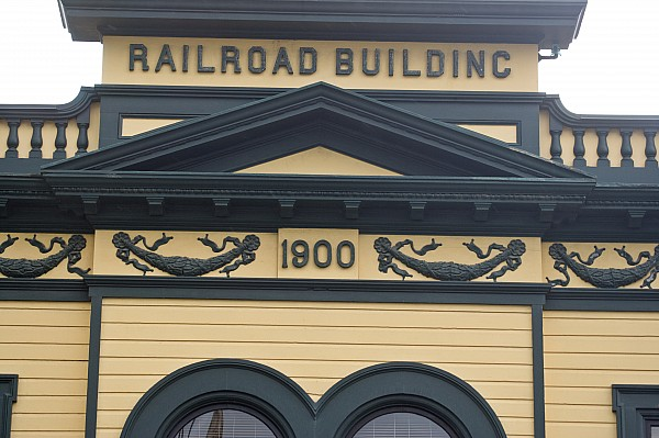 Building At Klondike Gold Rush National Print by Michael Melford