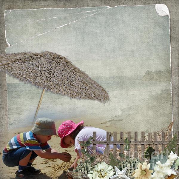 Building Sandcastles Print by Joanne Kocwin
