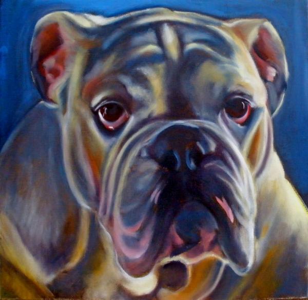 Bulldog Expression 2 Print by Kaytee Esser
