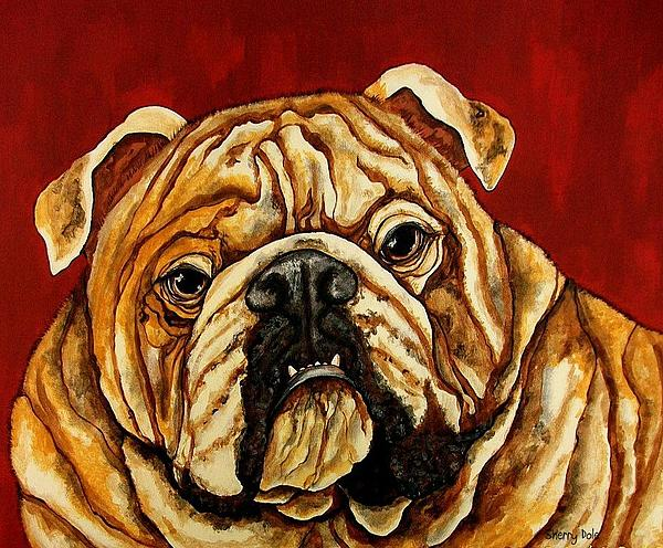 Bulldog Print by Sherry Dole