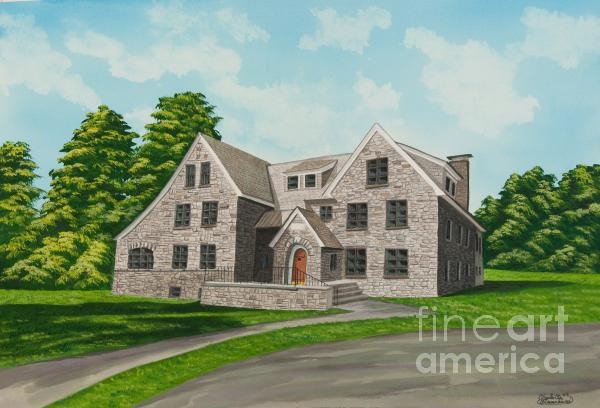 Bunch House Painting  - Bunch House Fine Art Print
