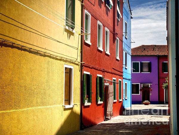 Burano Island - Colorful Houses Print by Gregory Dyer