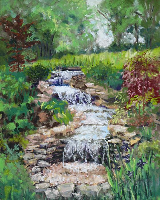 Burgess Water Garden Print by Lorraine McFarland