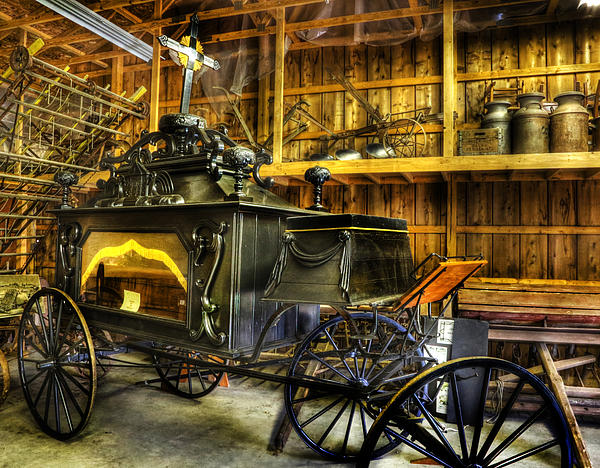 Burial Hearse Wagon Coach - Vintage - Nostalgia - Western - Antique  Print by Lee Dos Santos
