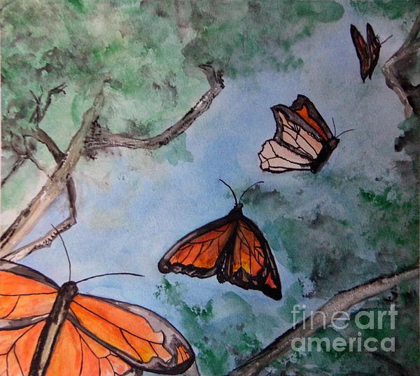 Butterflies Print by Jana Barros
