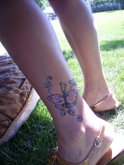 Butterfly Henna Tattoo: Butterfly With Glitter By Henna Tattoos Ogden Utah