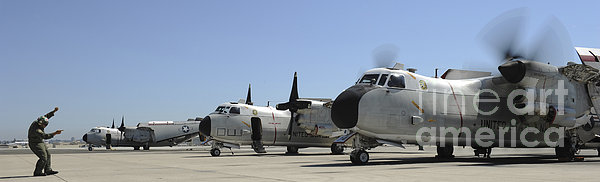 C-2a Greyhound Aircraft Start Print by Stocktrek Images
