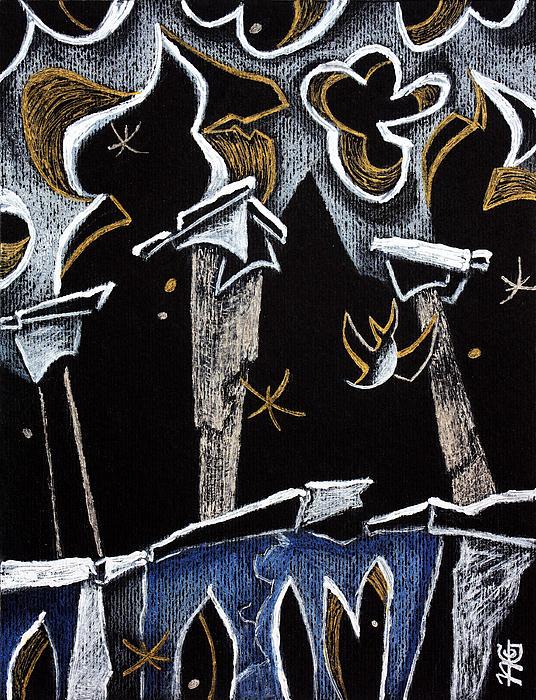 Ca' D'oro - Graphic Arts Illustration Venice Italy Print by Arte Venezia