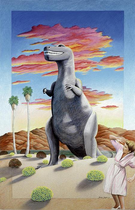 Cabazonasaur Print by Snake Jagger