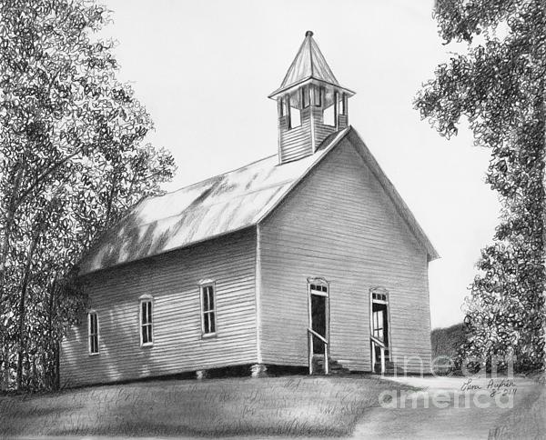 Cades Cove Methodist Church Print by Lena Auxier