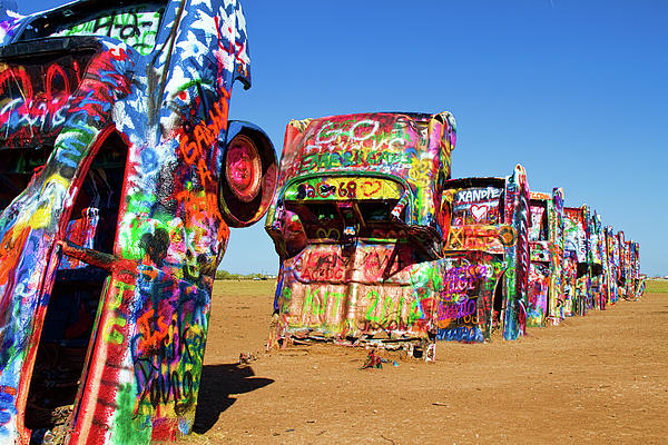 Cadillac Ranch 2 Print by Lana Trussell