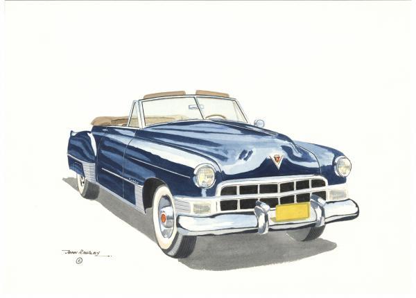 Cadillac Series 62 1949 Print by John Kinsley