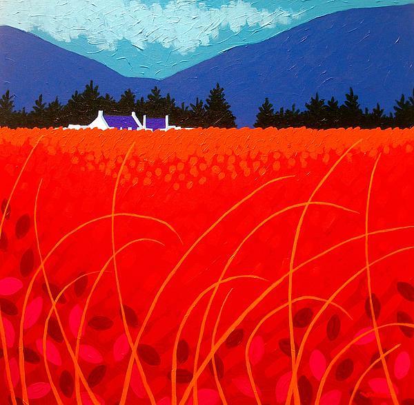 Cadmium Landscape Print by John  Nolan