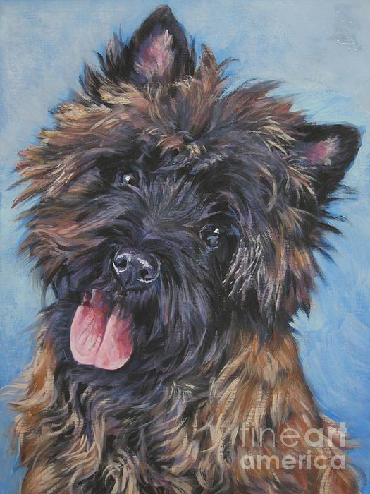 Cairn Terrier Brindle Print by Lee Ann Shepard