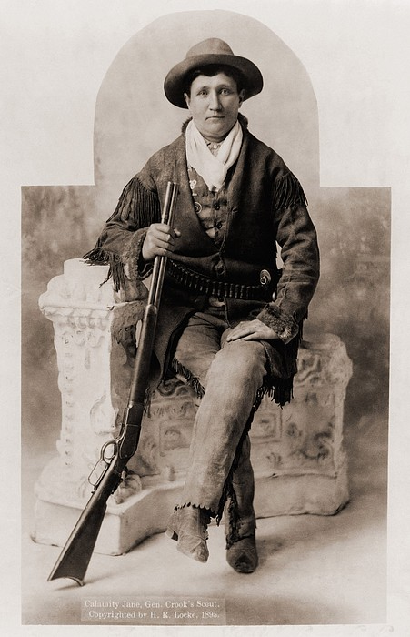 Calamity Jane 1852-1903, Was A Scout Print by Everett