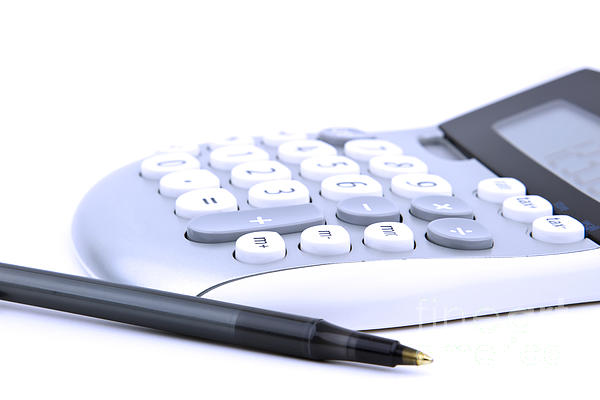 Calculator And Pen Print by Blink Images