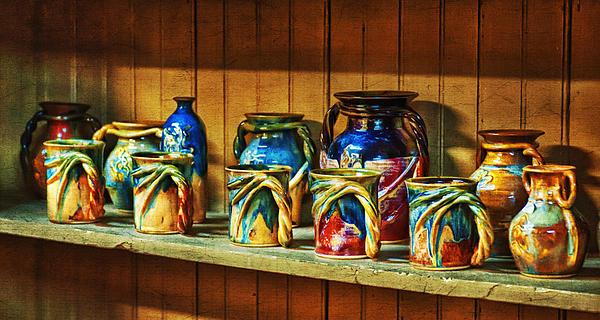 Calico Pottery Print by Brenda Bryant