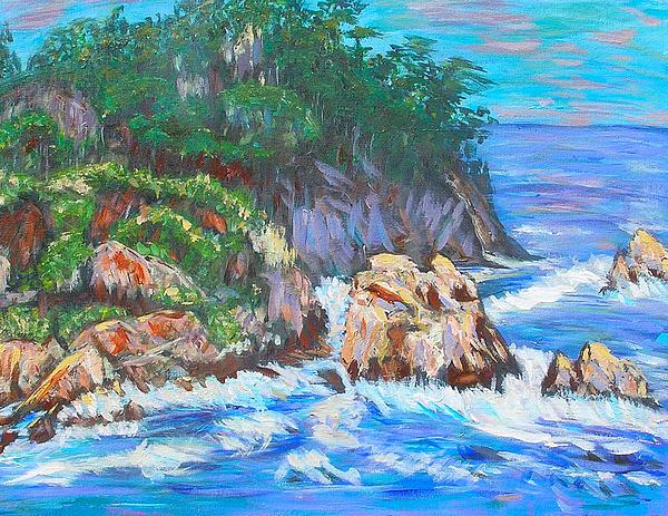 California Coast Print by Carolyn Donnell