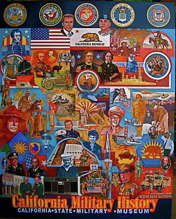 California Military History Mural Upgrade Print by Dean Gleisberg