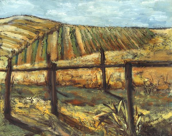 California Vineyard Painting