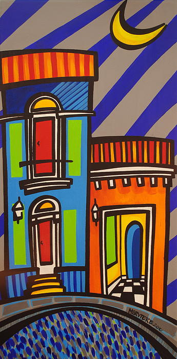 Calle Luna Print by Mary Tere Perez
