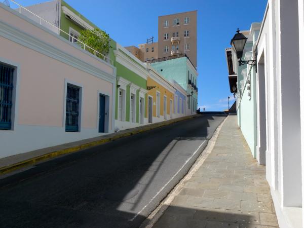 Calle Norzagaray San Juan Puerto Rico Print by George Oze