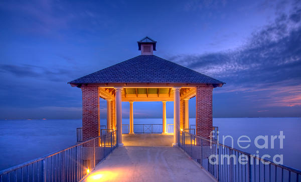 Calm Evening Print by Pixel Perfect by Michael Moore