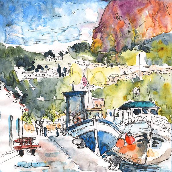 Calpe Harbour 05 Print by Miki De Goodaboom