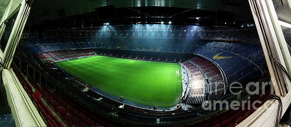 Camp Nou At Night Print by Agusti Pardo Rossello