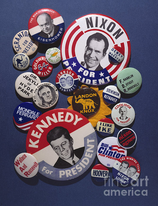 Campaign Buttons Print by Granger