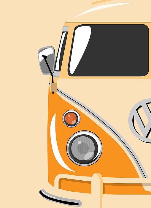 Camper Orange Print by Michael Tompsett