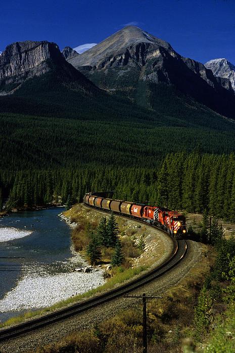 Canadian Railroad Print by Susan  Benson