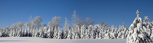 Canadian Winter Panorama Foster Quebec Print by David Chapman