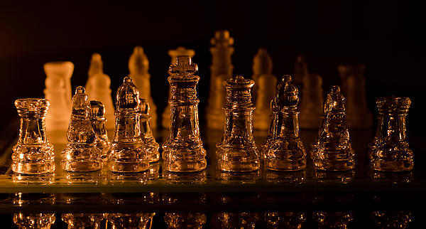 Lori Coleman - Candle Lit Chess Men