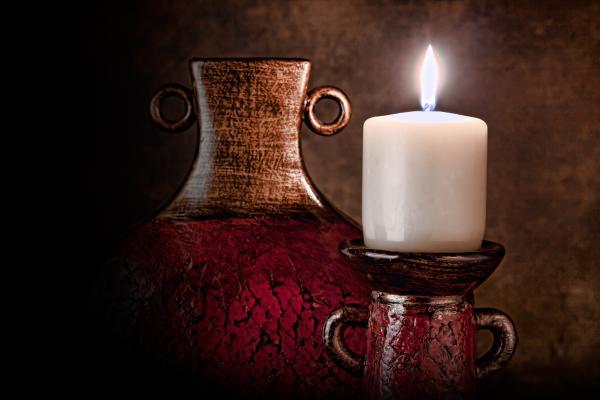 Candle Print by Tom Mc Nemar