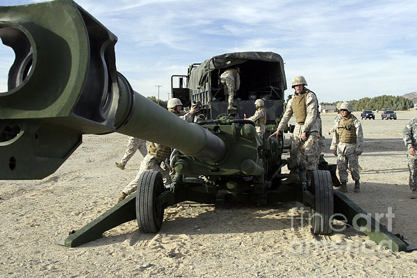Cannoneers Train With The M777 Print by Stocktrek Images