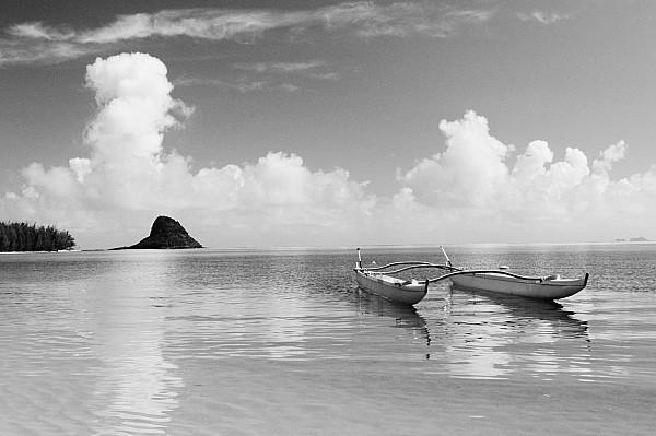 Canoe Landscape - Bw Print by Joss - Printscapes