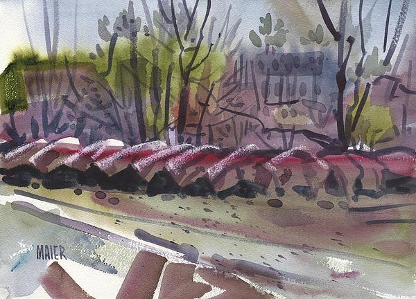 Canoe Rental Print by Donald Maier