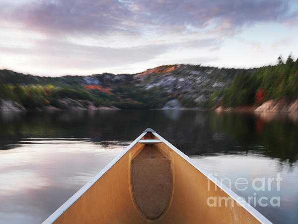 Canoeing In Ontario Provincial Park Print by Oleksiy Maksymenko