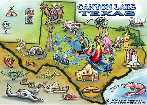 Canyon Lake Texas Digital Art  - Canyon Lake Texas Fine Art Print