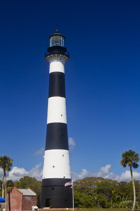 Cape Canaveral Lighthouse 2 Print by Roger Wedegis